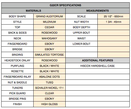 Specs G22CR